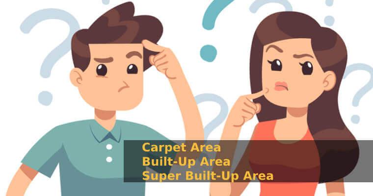 Carpet Area vs Built up Area vs Super Built up Area