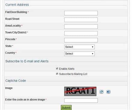 ITR Registration Form
