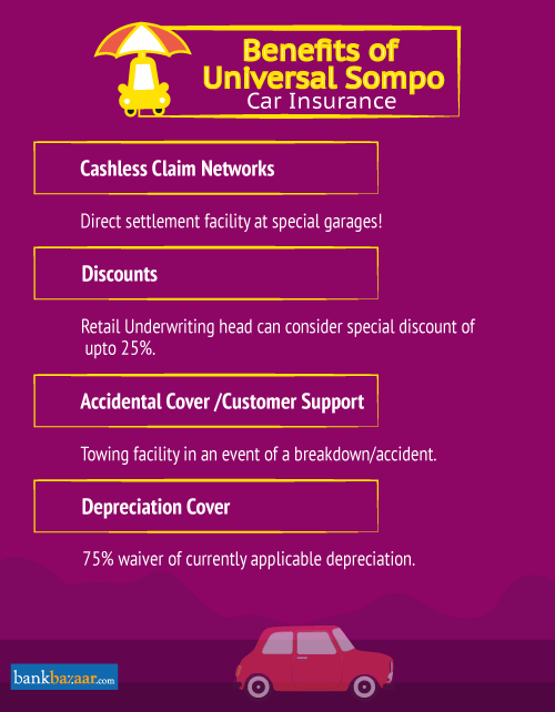 Benefits of Universal Sompo Car Insurance