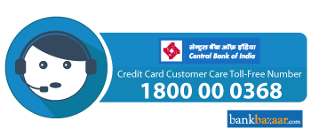 Central Bank of India Credit Card Toll free Number