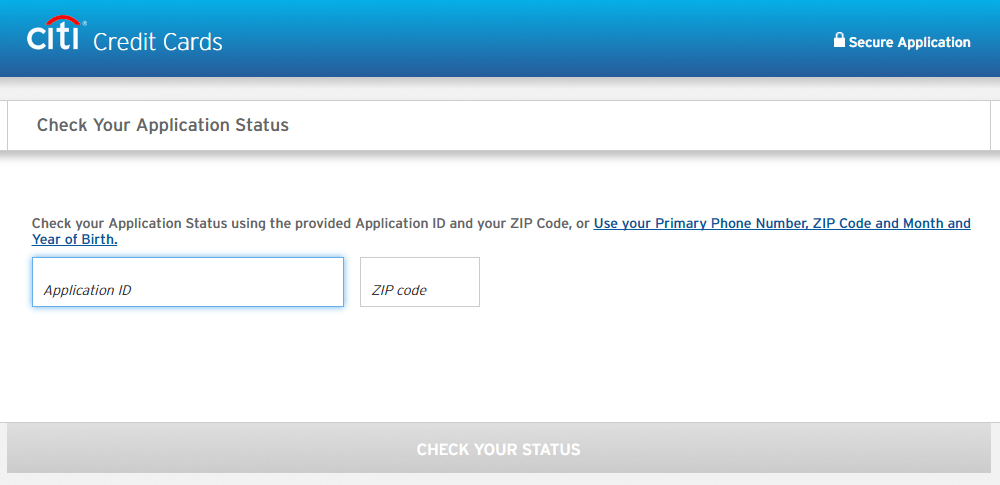 Citibank Credit Card Application Status >> Citibank Credit Card Application Status Online Track By Reference