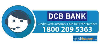 DCB Credit Card Toll free Number