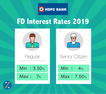 Hdfc Bank Fixed Deposit Interest Rates Fd Calculator 2019 Updated