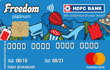 Apply HDFC Freedom Card