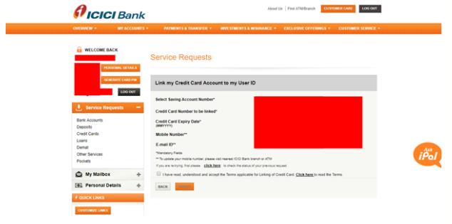 Icici Credit Card Net Banking Registration Login Make Payment