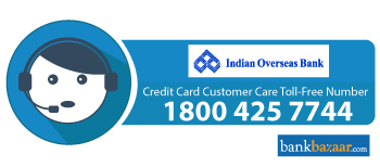 IOB Credit Card Toll free Number