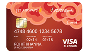 Apply Jet Airways ICICI Bank Coral VISA Credit Card
