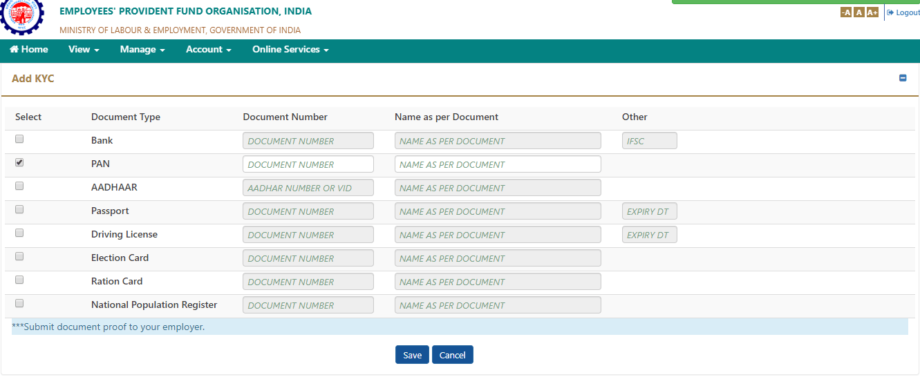 How to link PAN with EPF Account by Simple Steps, UAN Number