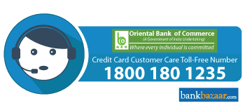 OBC Credit Card Toll free Number
