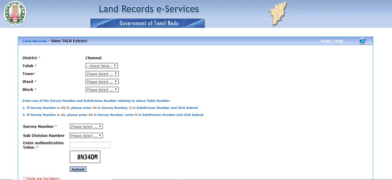 View Town Survey Land Register