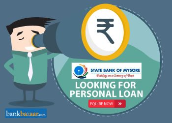 Enquire for State Bank of Mysore Personal Loan