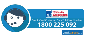 Syndicate Bank Credit Card Toll free Number