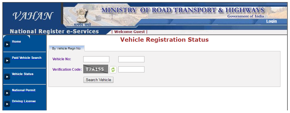 Vehicle Registration Status