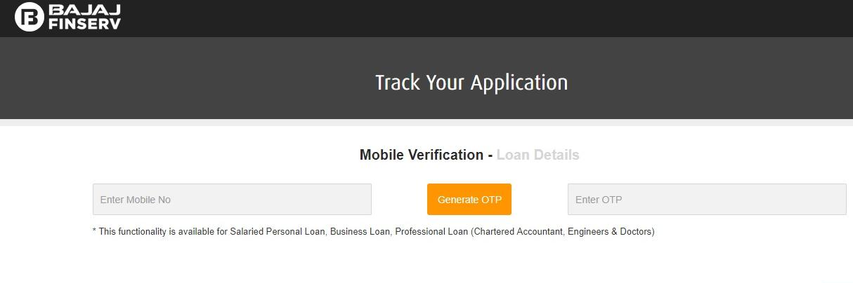 Bajaj Finserv Personal Loan Status - Enquiry Loan Status using Mobile