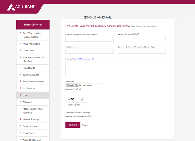 get axis bank home loan statement online