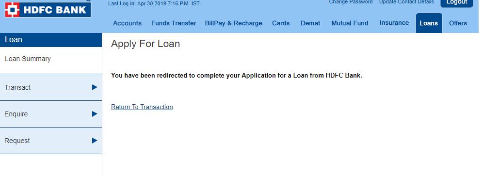 loan status track hdfc bank