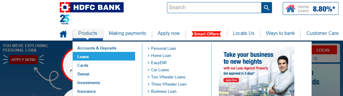 hdfc personal loan status with ref number