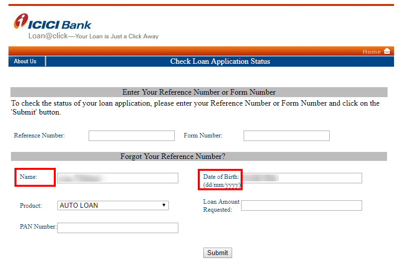 Icici Bank Personal Loan Status Track Icici Application Status Online
