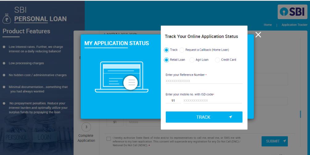 Sbi Personal Loan Status Enquiry Sbi Application Status Online